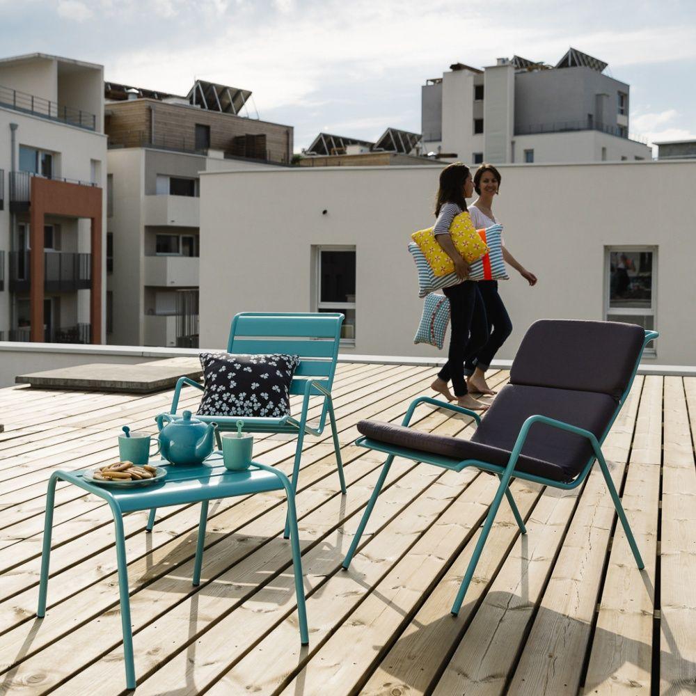 Salon de jardin Fermob Monceau : 1 table basse + 2 fauteuils