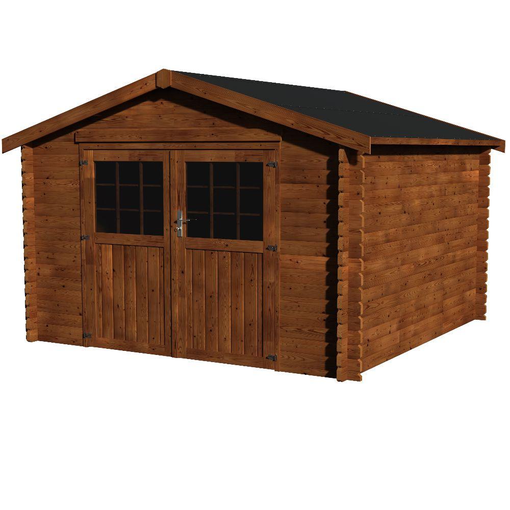 Abri de jardin bois traité autoclave Valodeal 9 m² Ep.34 mm
