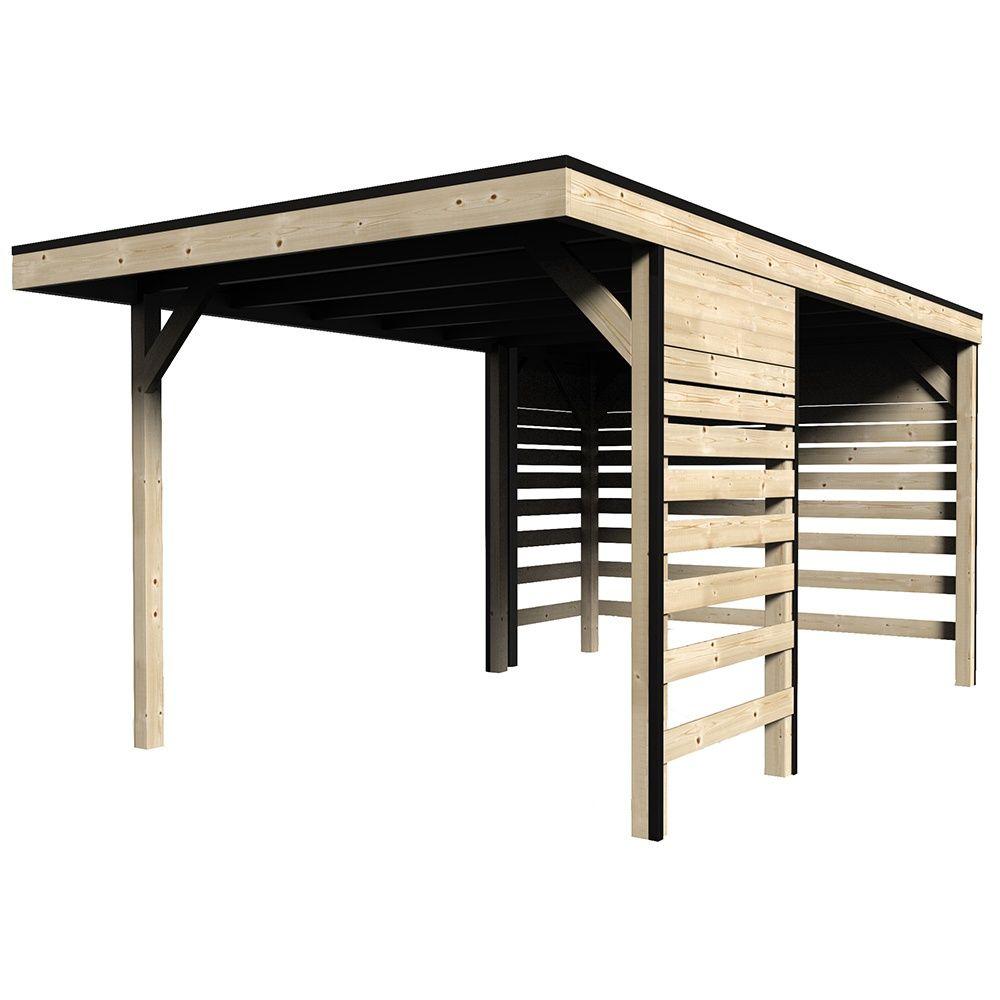 Carport bois traité autoclave Elite : 1 voiture - 14,59 m²