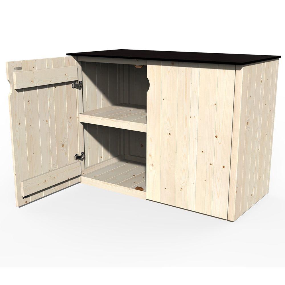 Armoire de jardin bois Vertigo L112 H91 cm