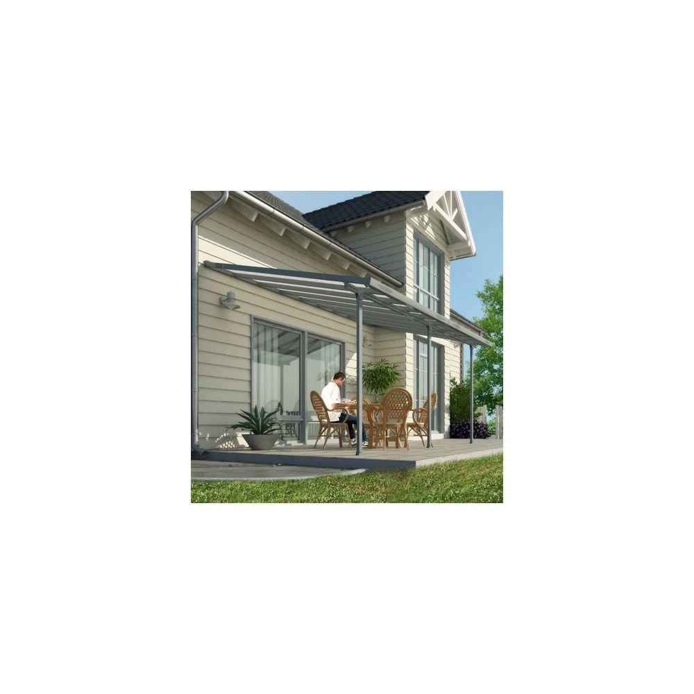pergola toit terrasse aluminium et polycarbonate 5x3 m. Black Bedroom Furniture Sets. Home Design Ideas