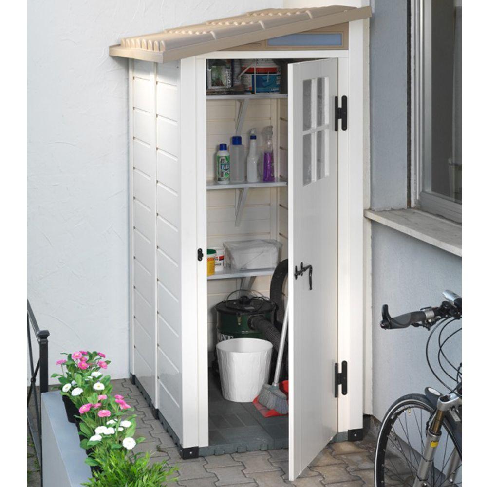 petit abri de jardin r sine pvc adossable 1 m ep 22 mm. Black Bedroom Furniture Sets. Home Design Ideas