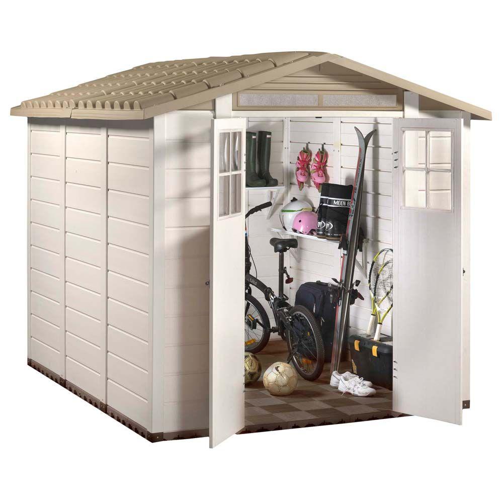 Petit abri de jardin résine PVC 6,03 m² Ep. 22 mm Evo 240