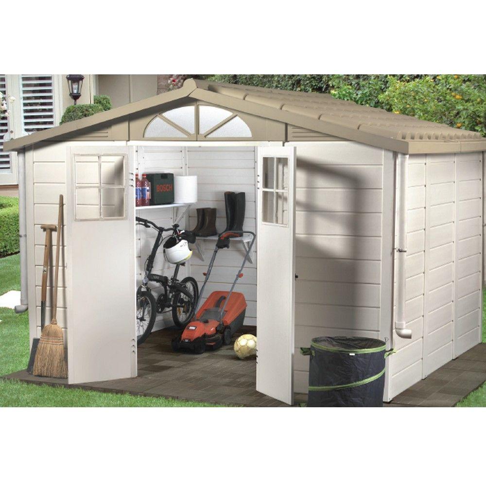 Abri de jardin résine PVC 8,06 m² Ep. 22 mm Evo 280