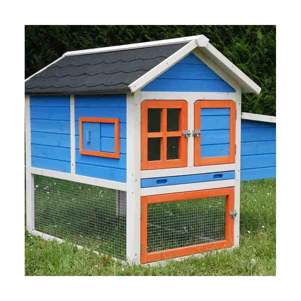 poulailler color 1 2 poules 119x88x18 5 cm gamm vert. Black Bedroom Furniture Sets. Home Design Ideas
