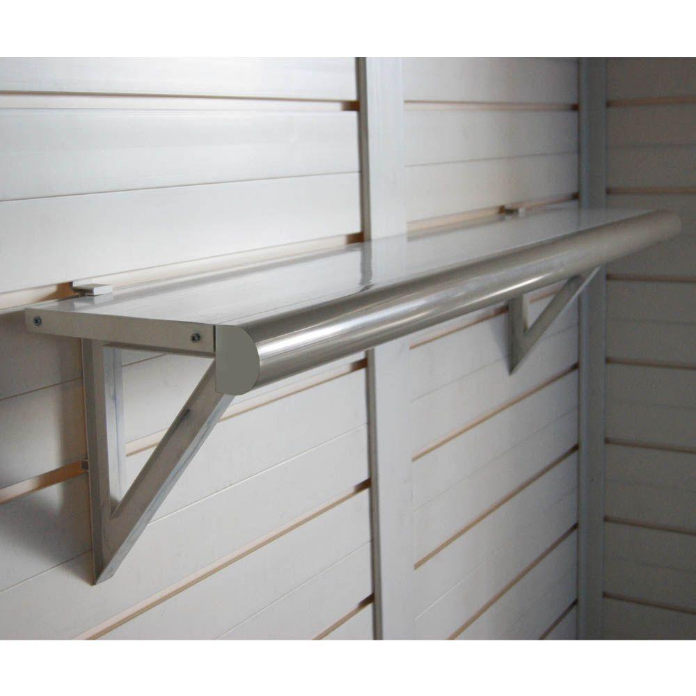 Kit De 2 étagères Murales Pour Abris Résine Evo 84x26x10 Cm Gamm Vert
