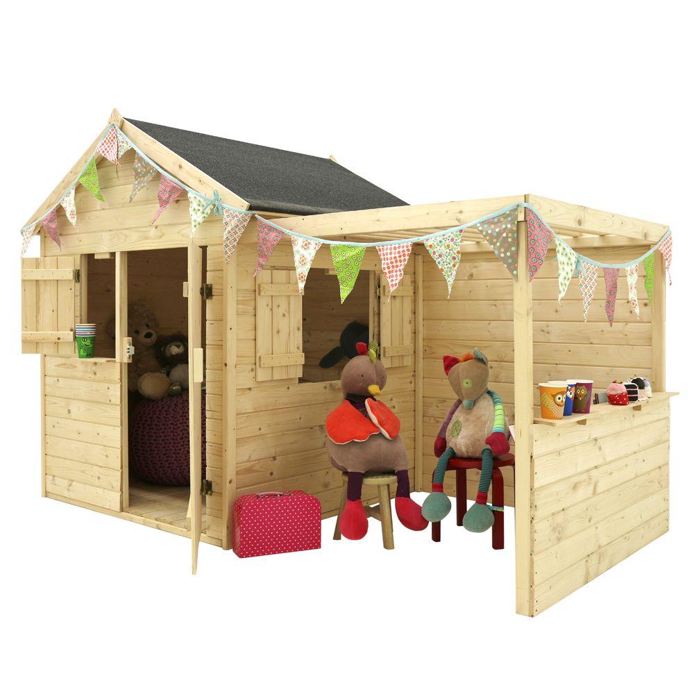 Maison Bois Avis maisonnette enfant bois alpaga avec pergola