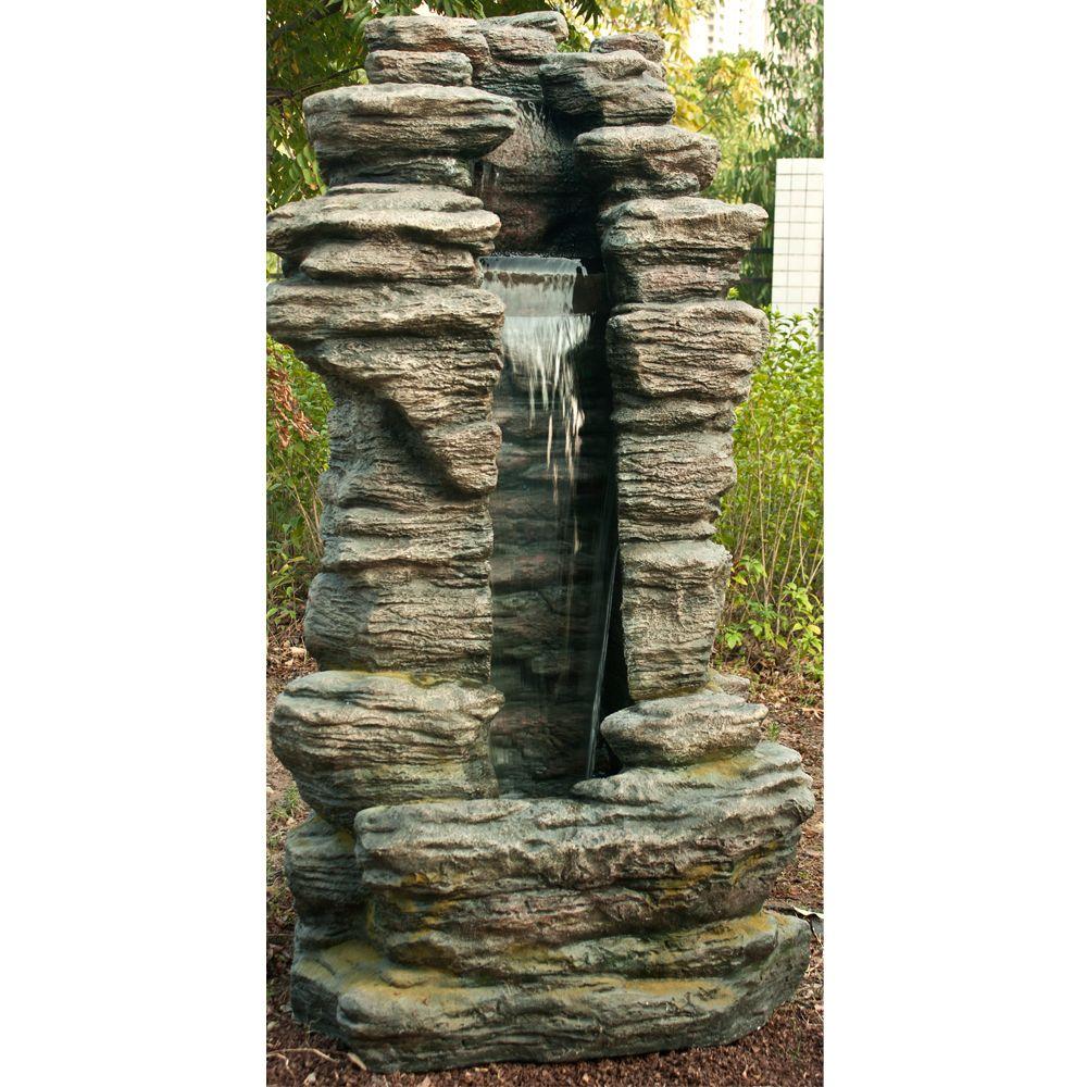 Fontaine De Jardin Cleveland H180 Cm Avec Eclairage Led