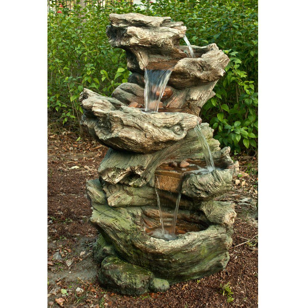 Fontaine De Jardin Norfolk H119 Cm Avec Eclairage Led