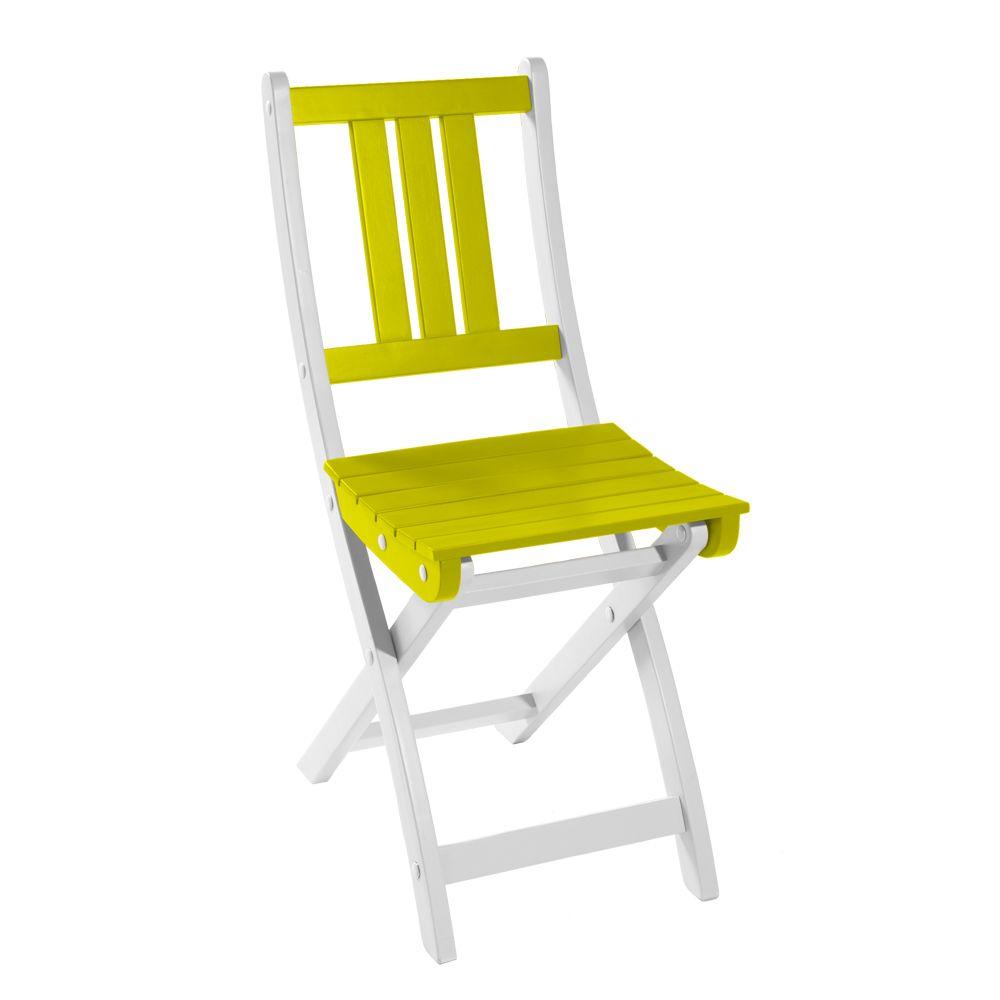 Chaise pliante City Green Burano bois anis