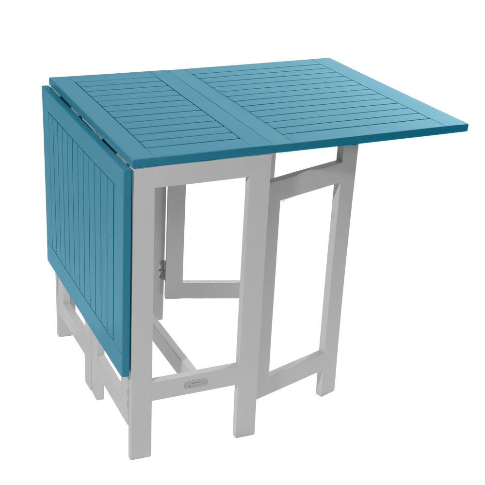 Table Burano Bleu Green 135 L65 Cm Console City Pliante Bois L37 X80OnwPk
