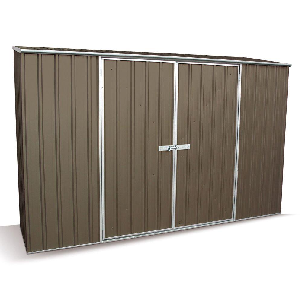 Armoire de jardin métal Clay 2,34 m² gris 212 x 86 x 8 cm - Gamm Vert