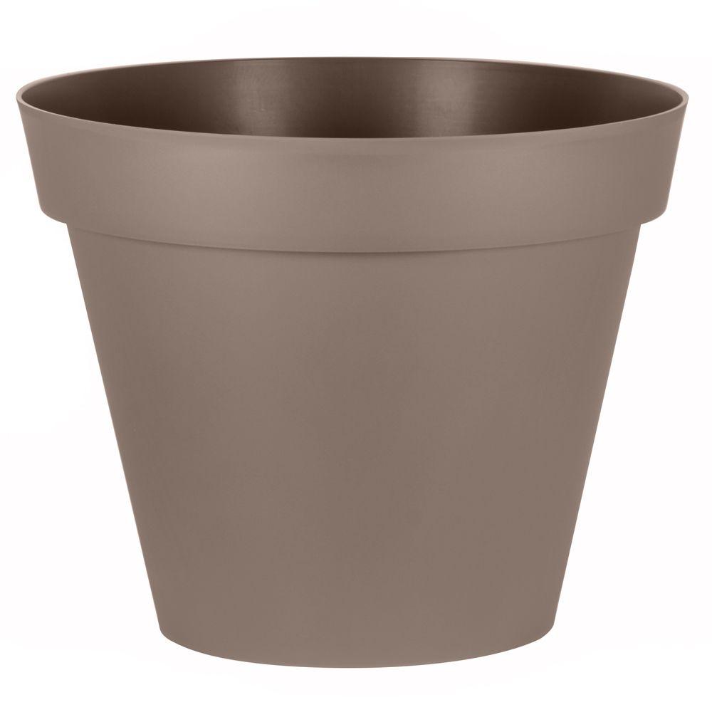 Pot De Fleur Haut Pas Cher pot rond xl eda toscane plastique Ø100 h80 cm 356l taupe