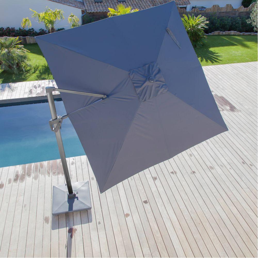 parasol d port inclinable aluminium 3x4 m gris gamm vert. Black Bedroom Furniture Sets. Home Design Ideas