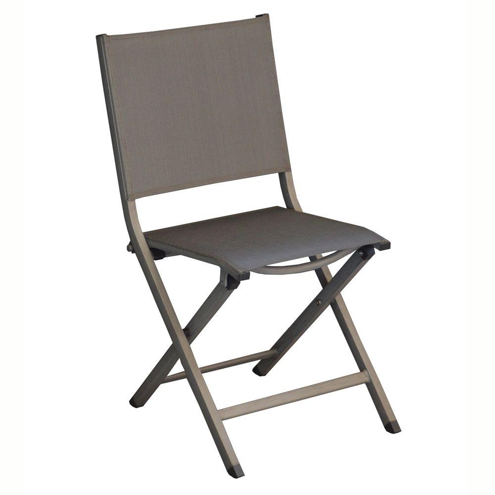 Chaise pliante Thema aluminium/textilène argent