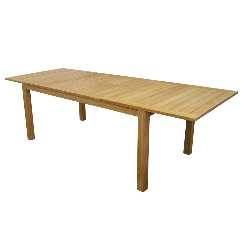 Table de jardin Madagascar teck l180/240 L100 cm