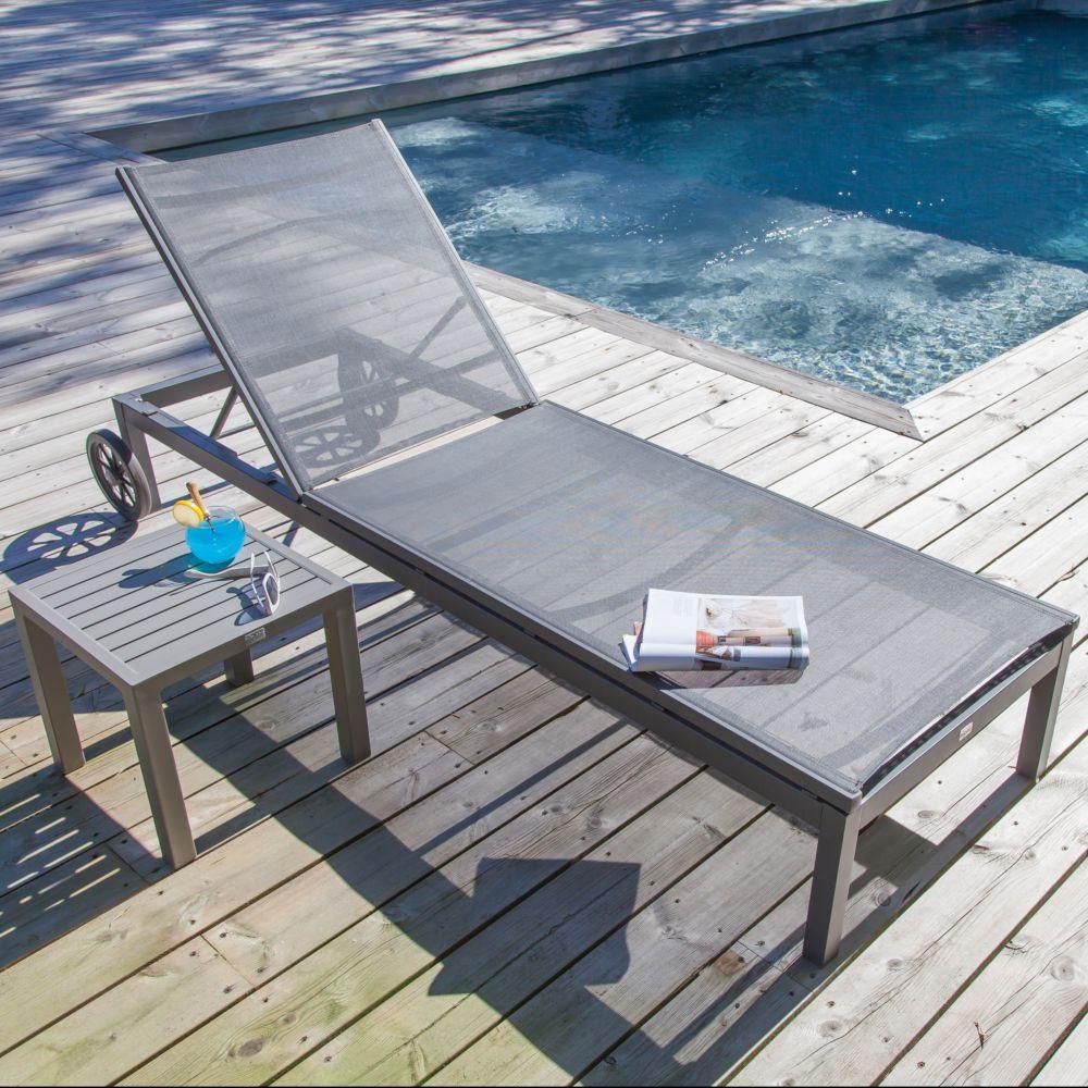 bain de soleil thema aluminium textil ne argent 1 carton. Black Bedroom Furniture Sets. Home Design Ideas