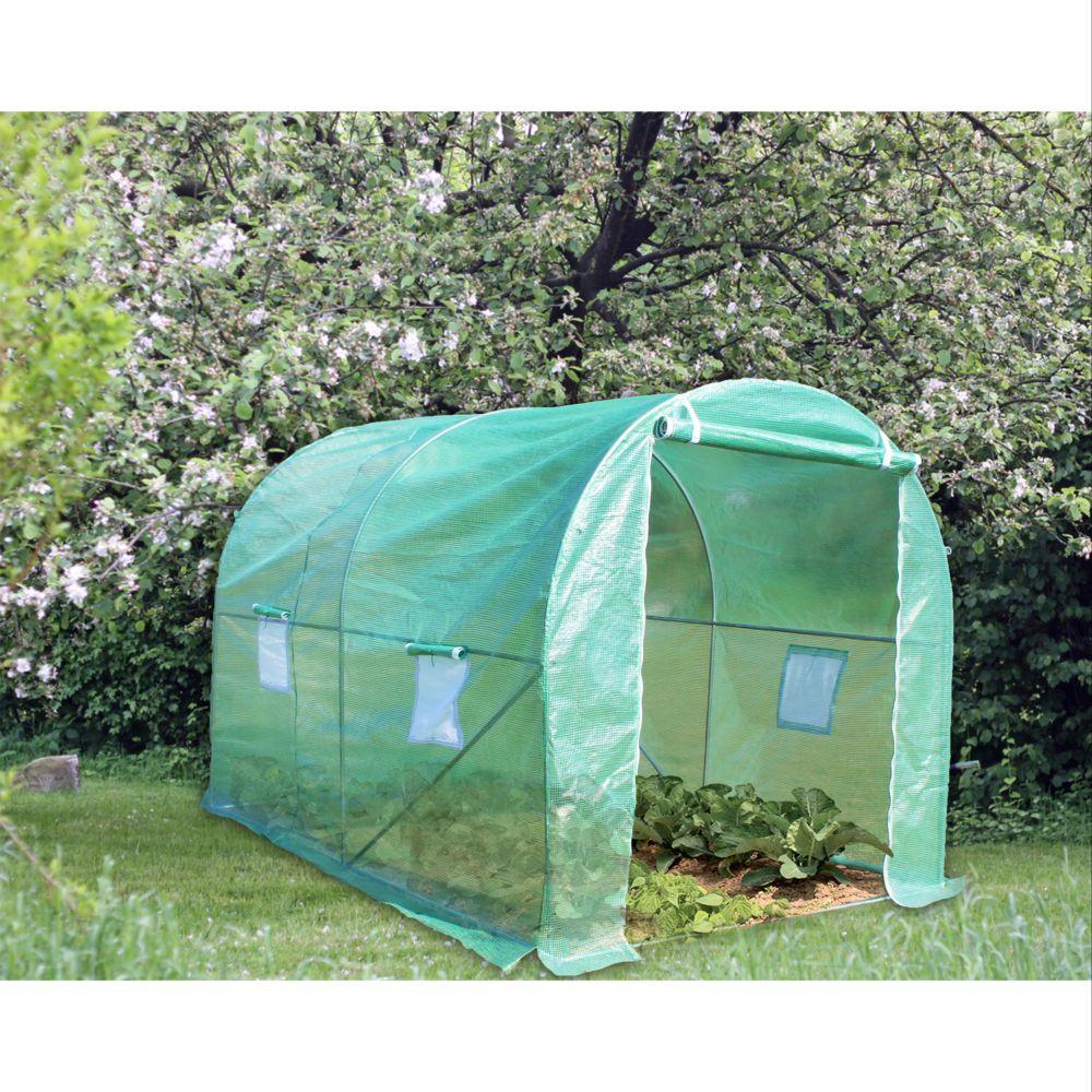 Serre de jardin - Serre tunnel 5 m² + bâche hiver - Habrita - Serre de jardin GammVert