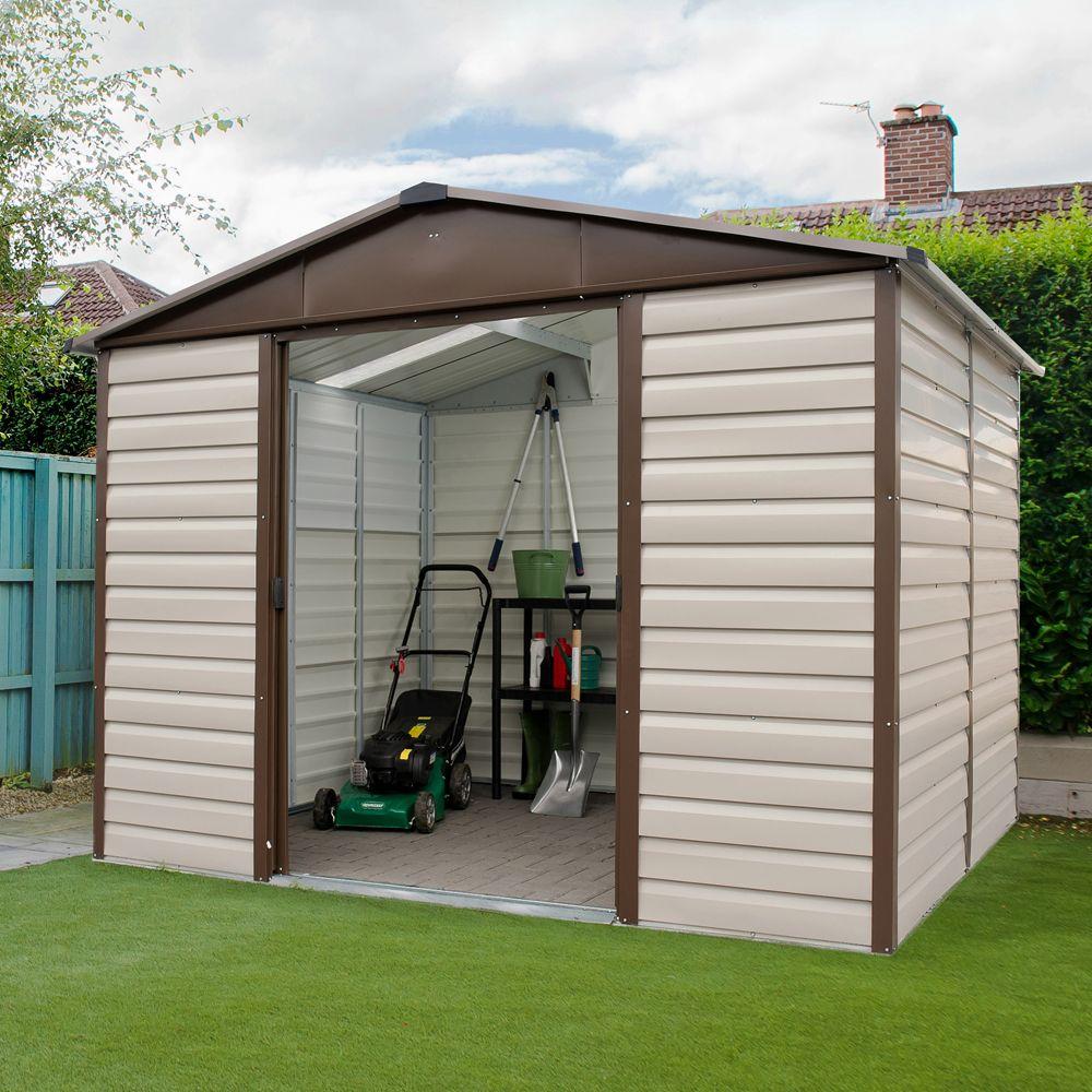 Petit abri de jardin métal 4,79 m² Ep. 0,30 mm Yardmaster Colis 1 ...