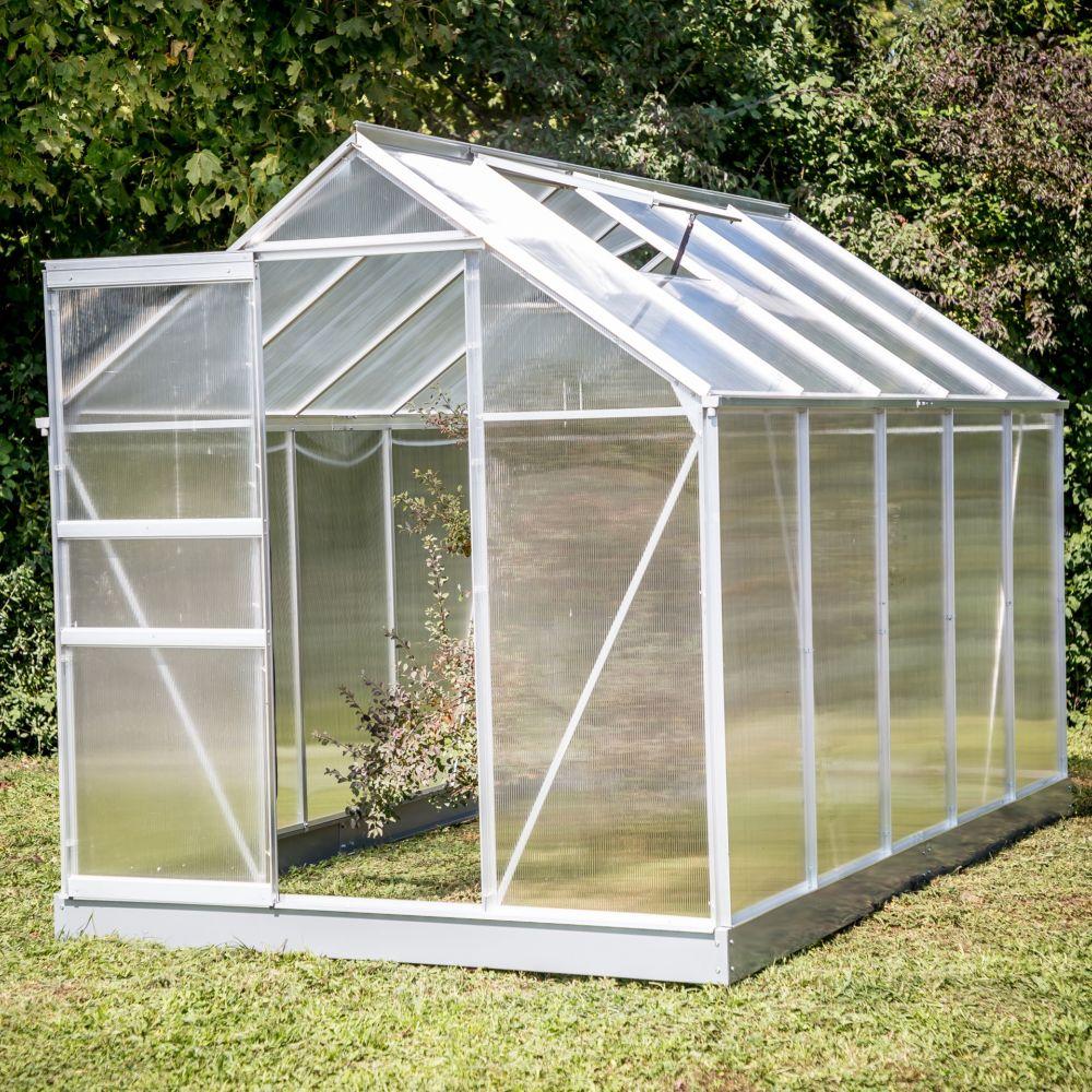 Serre polycarbonate aluminium 6.03 m² - Habrita
