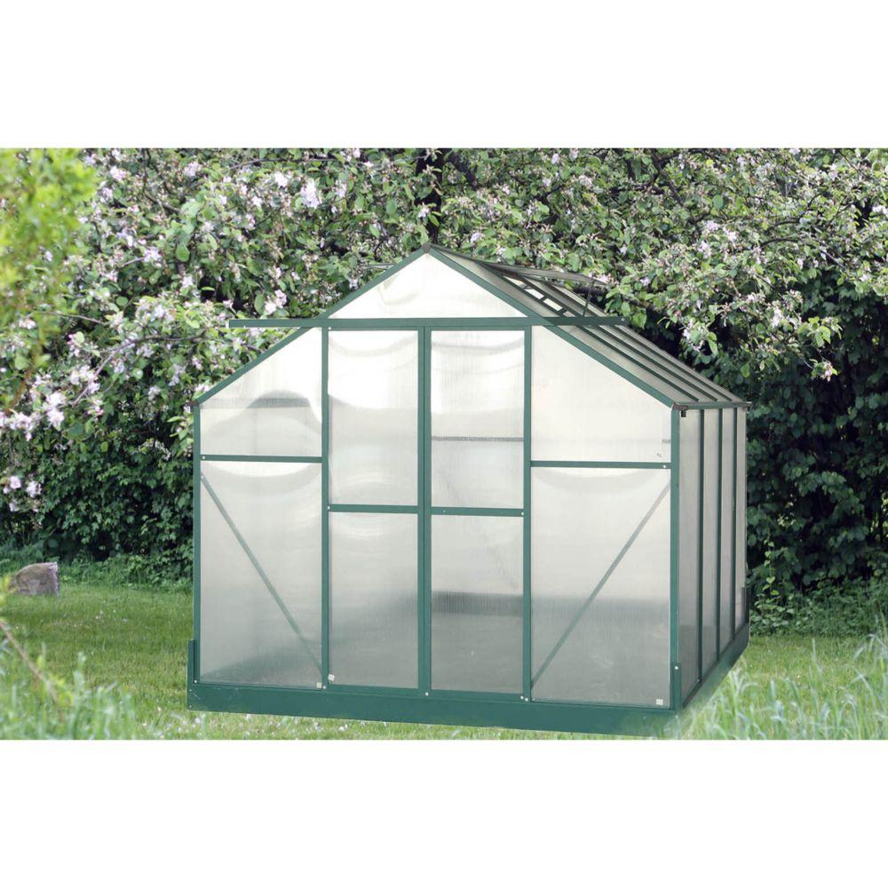 Serre polycarbonate vert 7.44 m² - Habrita