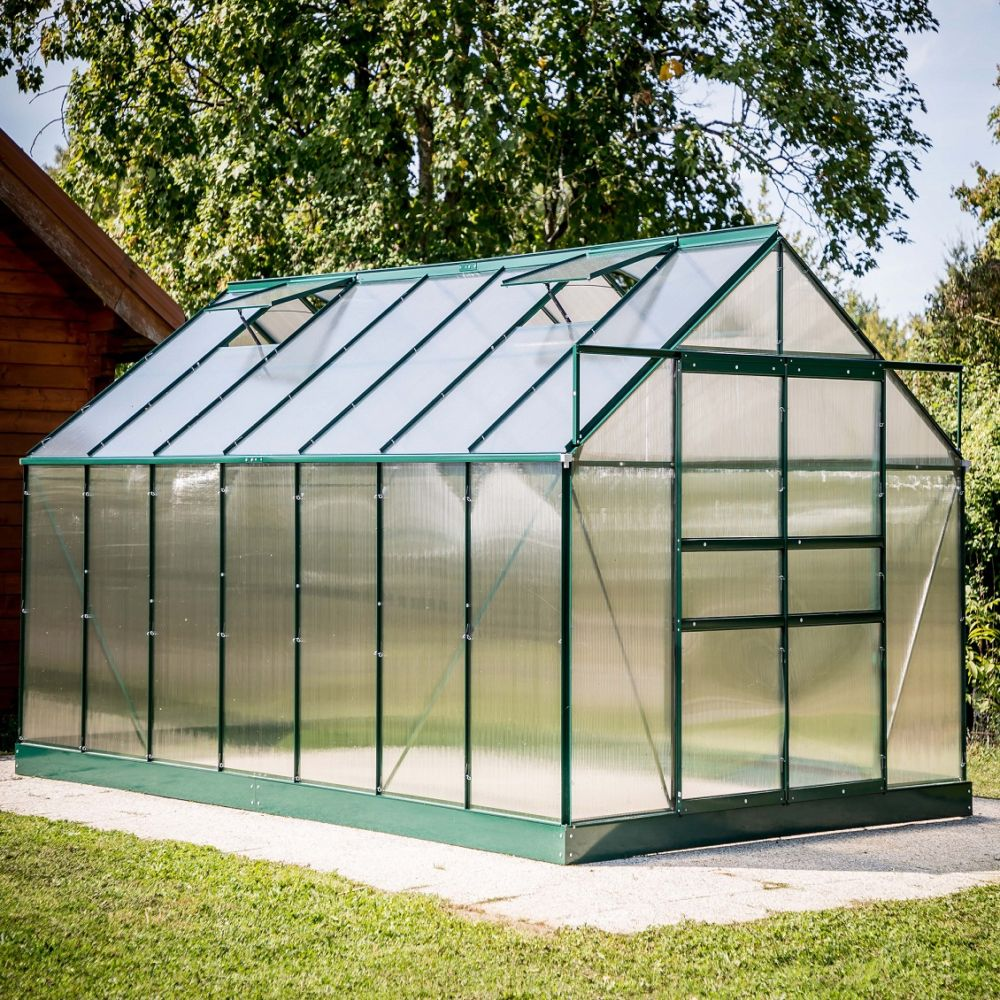 Serre polycarbonate vert 10.37 m² - Habrita