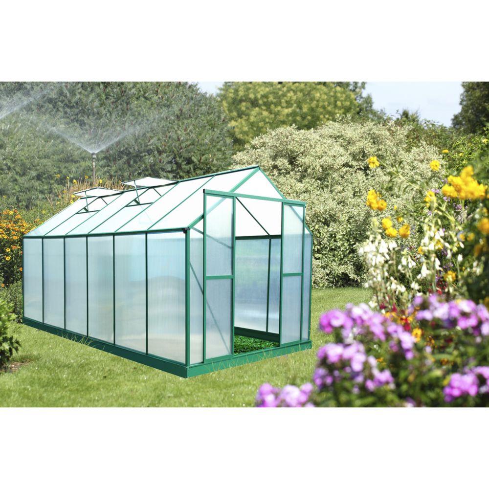 Serre polycarbonate vert 12.61 m² - Habrita