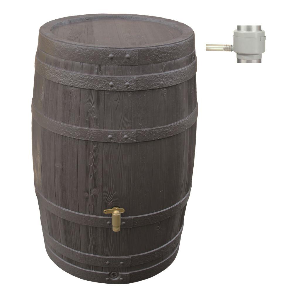 Récupérateur d'eau GARANTIA Tonneau Vino 250 L Brun