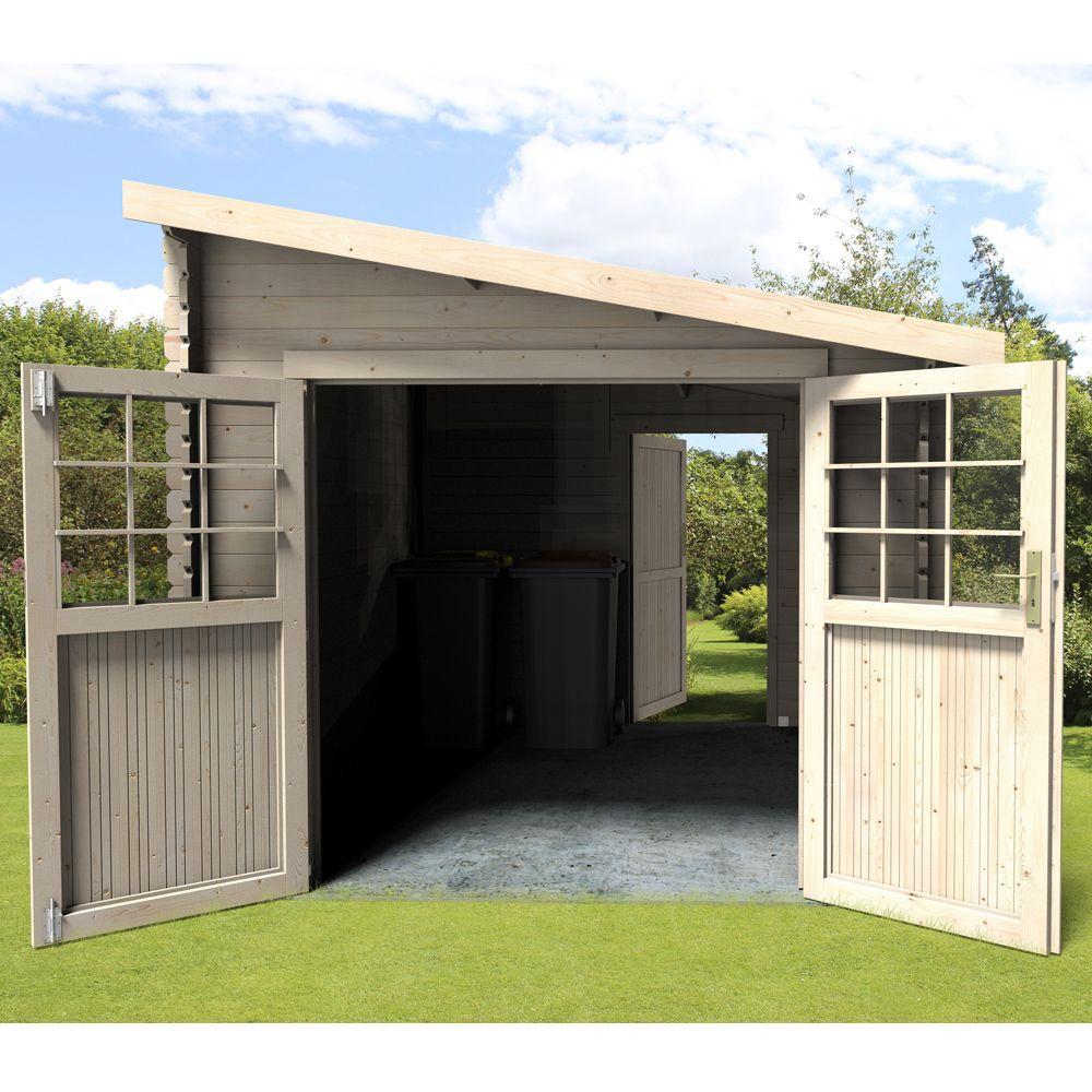 abri de jardin en bois monopente Abri de jardin adossable bois 9,59 m² Ep. 28 mm Esprit ...