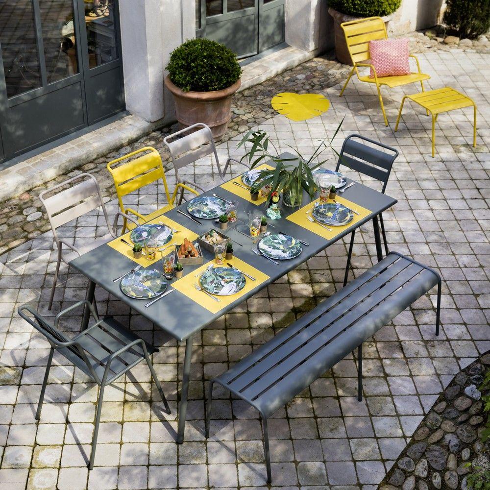Salon de jardin Fermob Monceau : 8 pers. romarin/muscade/miel