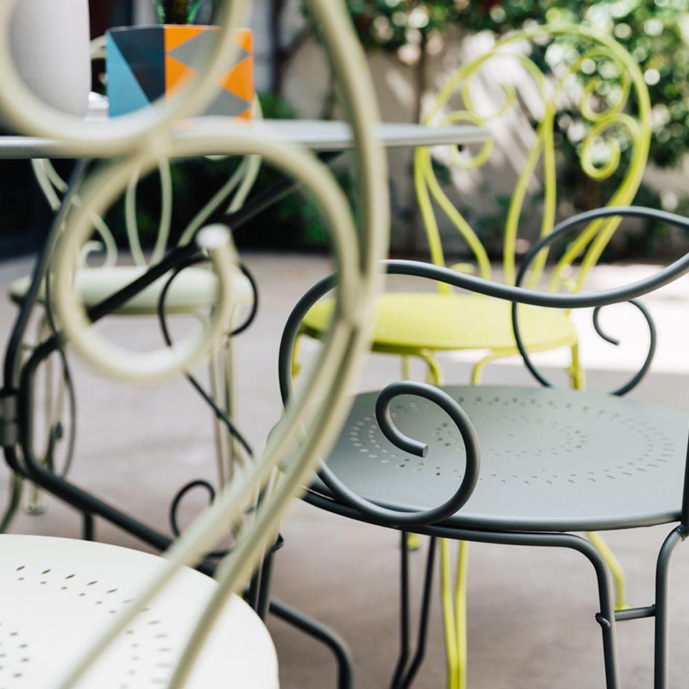 Salon de jardin Fermob Montmartre : 6 pers. romarin/verveine/tilleul ...