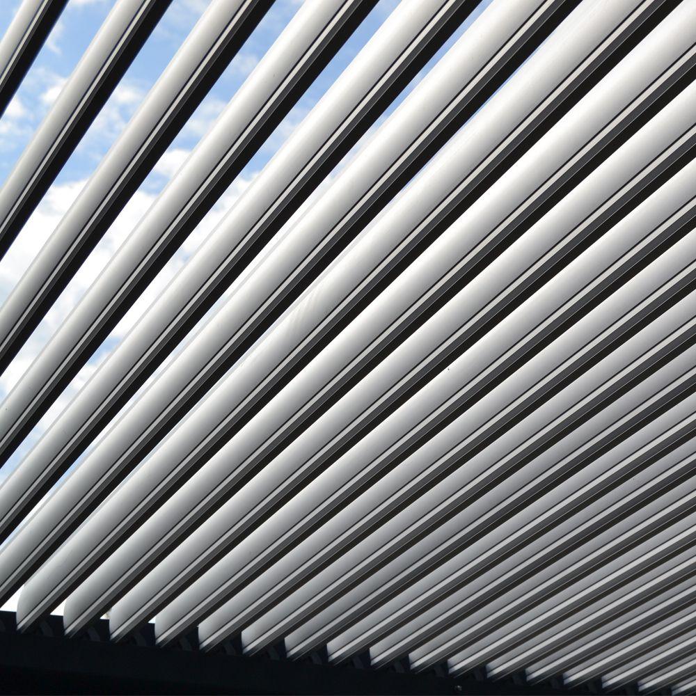 Tonnelle Adossée Aluminium 4x6 M Lames Orientables Boston Luxe