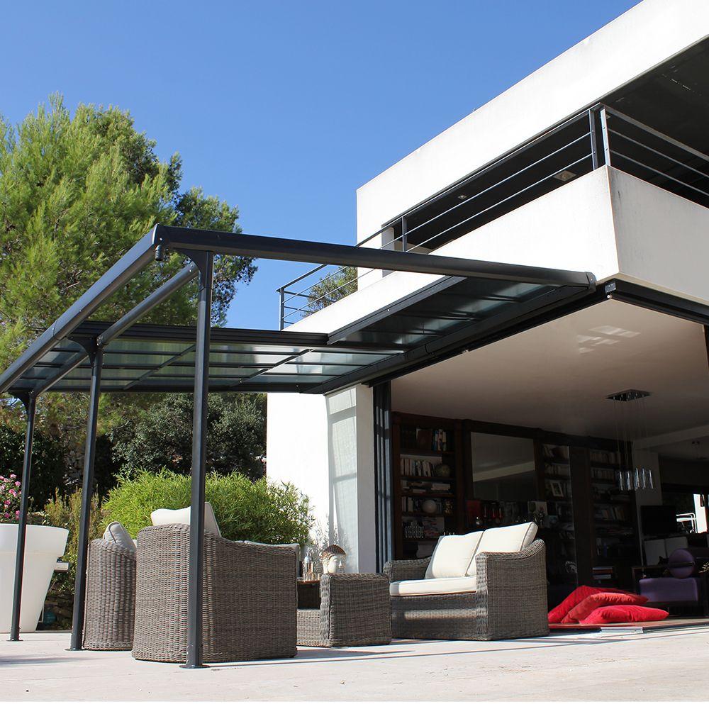 tonnelle autoportante aluminium toit polycarbonate 4x3 5. Black Bedroom Furniture Sets. Home Design Ideas