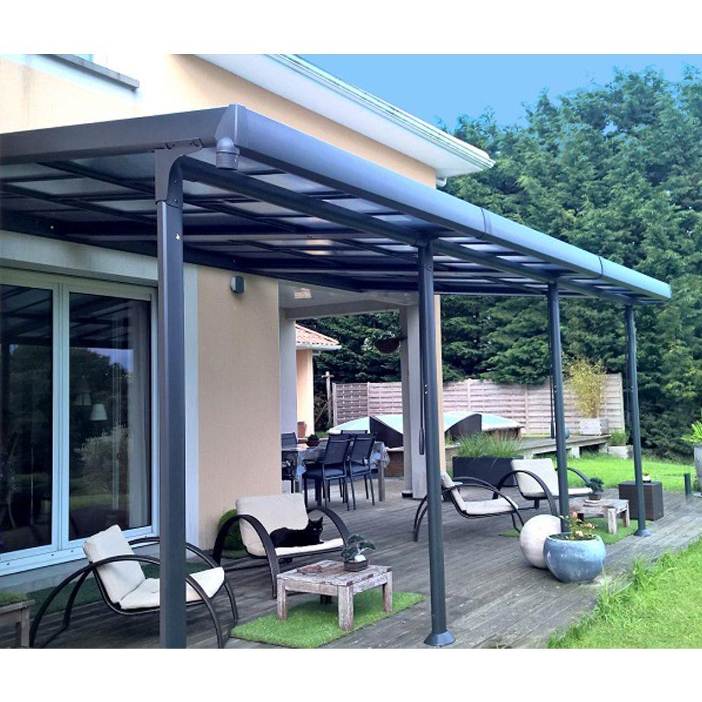 tonnelle adoss e aluminium toit polycarbonate 3 5x6 m. Black Bedroom Furniture Sets. Home Design Ideas