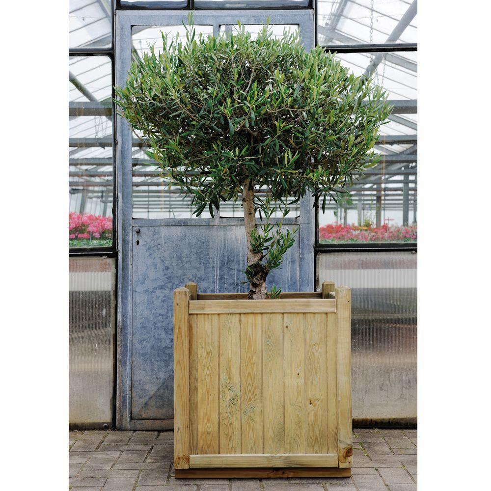Bac à fleurs bois traité autoclave L60 H65 cm Vendôme
