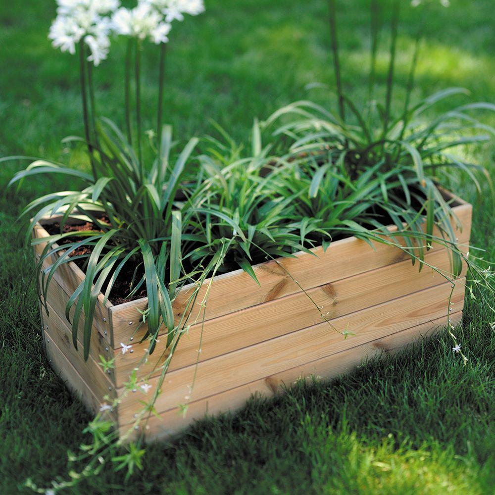 Bac à fleurs bois traité autoclave L80 H39,5 cm Essencia