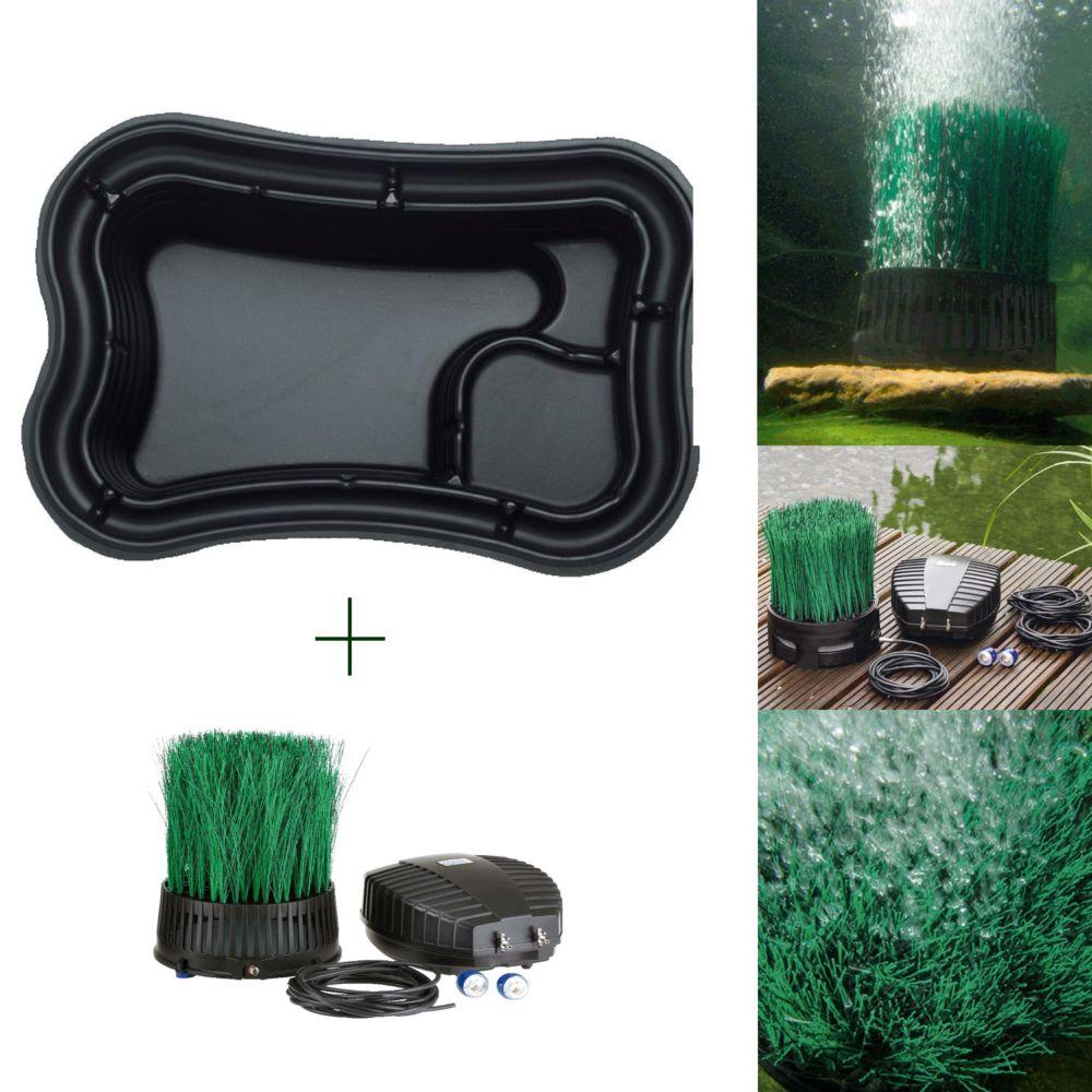 Kit bassin 1000L : Bassin préformé 1000L+ Aérateur bassin oxytex 1000