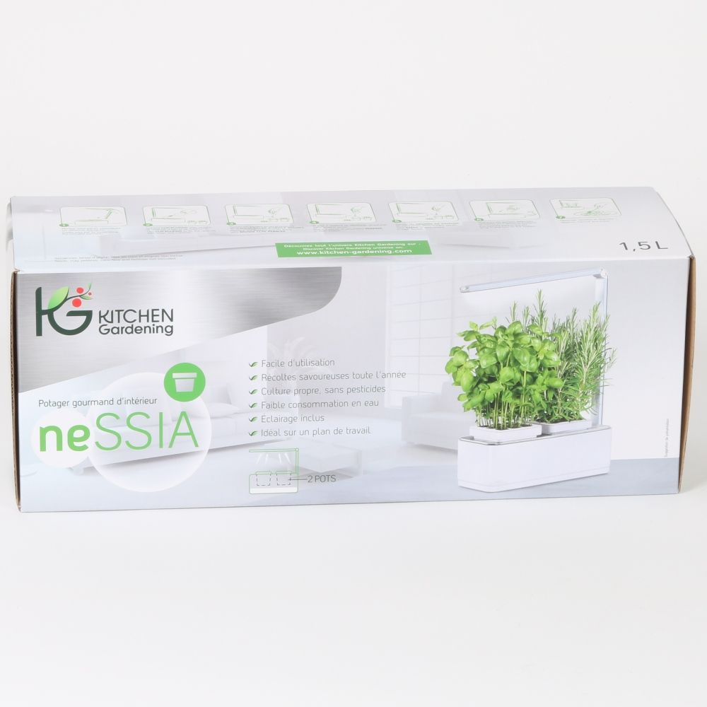 Potager D Interieur 1 5l Nessia Kitchen Gardening 41x24x31 Cm Gamm