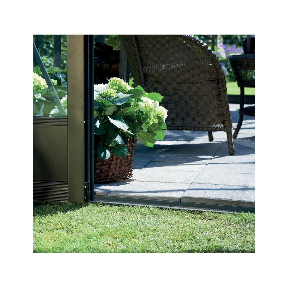 Serre adossée en verre trempé Veranda anthracite 12.9 m² - Juliana Livraison sur palette sauf ...