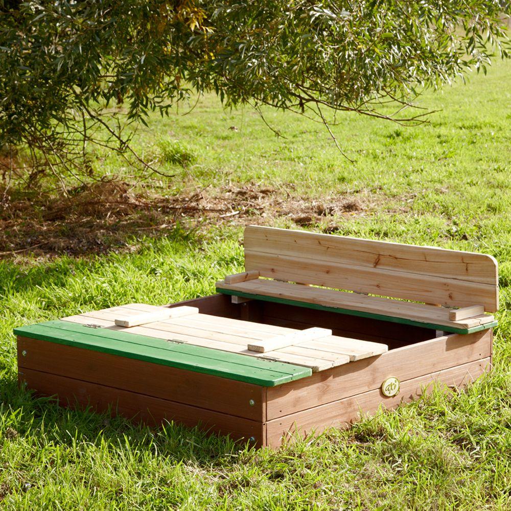 Bac à Sable Bois Avec Bancs Ella 39 X 12 X 100 Cm Gamm Vert