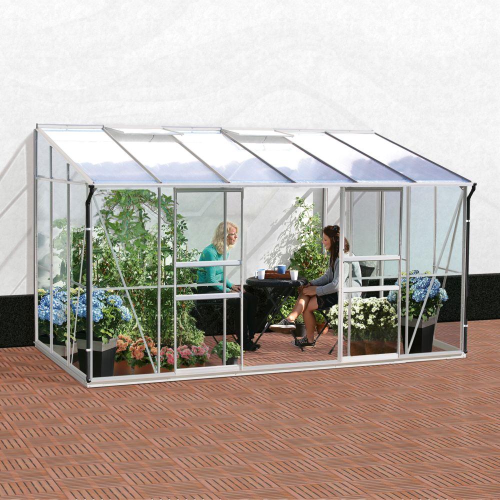 Serre de jardin - Serre adossée en verre trempé Melissa 7.20 m² - Lams - Serre de jardin GammVert