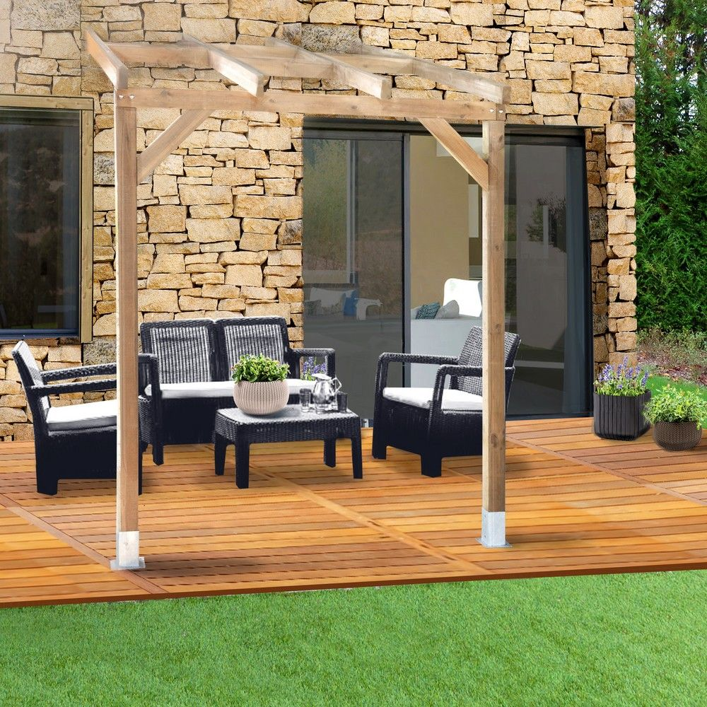 pergola adoss e bois trait 3x2 m 3 01 x 0 37 x 0 22 m 0. Black Bedroom Furniture Sets. Home Design Ideas