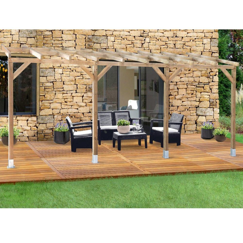 pergola adoss e bois trait 3x5 5 m 3 01 x 0 37 x 0 22 m. Black Bedroom Furniture Sets. Home Design Ideas