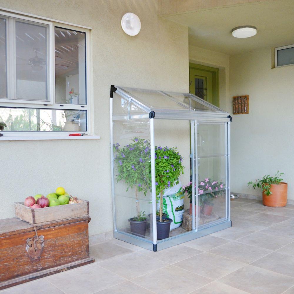 Serre de balcon ou terrasse adossée 0.75 m² polycarbonate - Palram