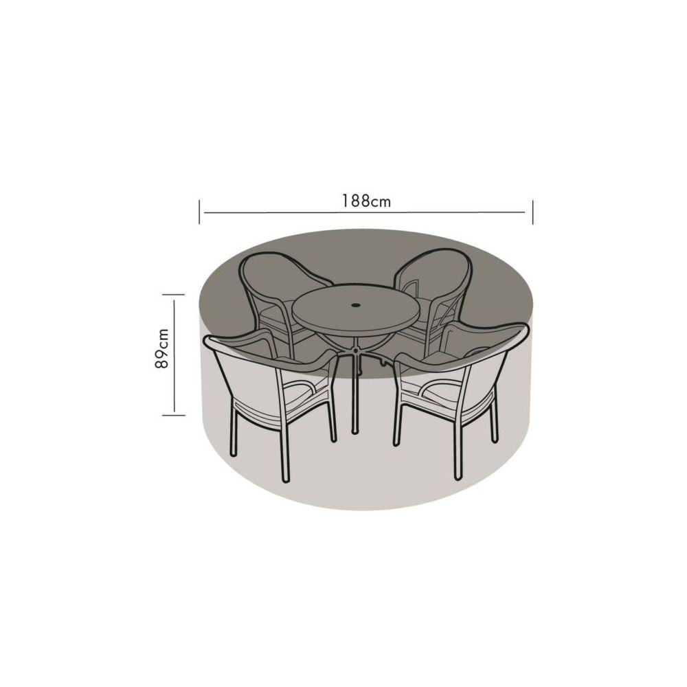Housse de protection table Ø188 H89 cm vert