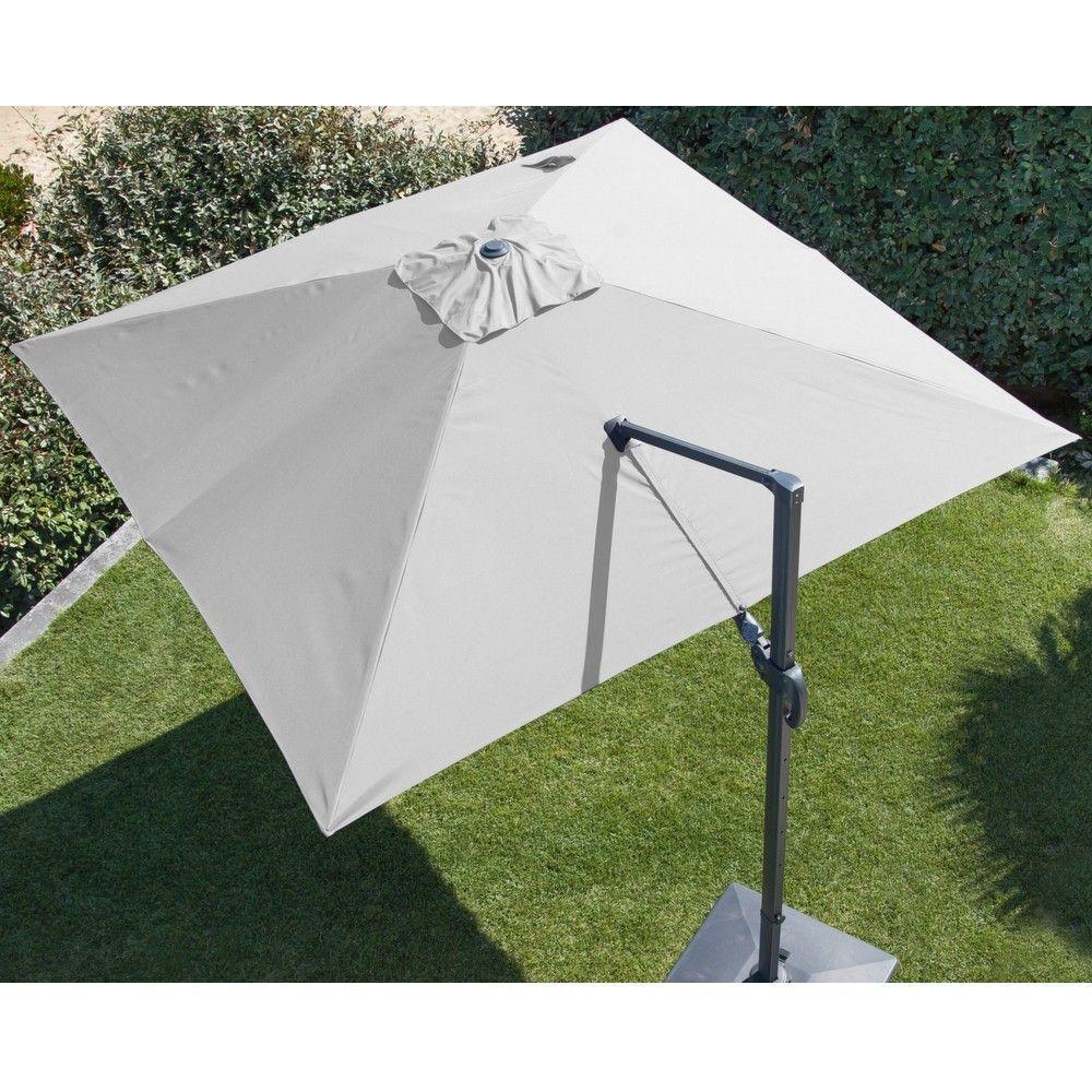 Parasol Déporté Aluminium 3x3 M Blanc
