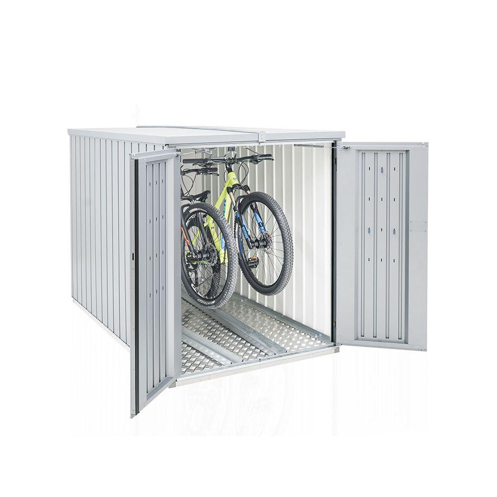 Mini Garage L122  H145 Biohort gris argent métallique