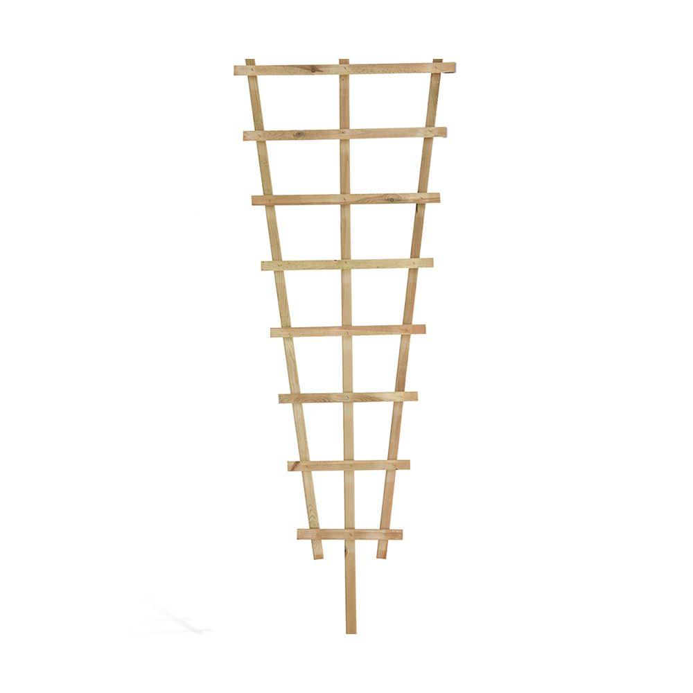 Treillis Bois Pas Cher treillis trapèze bois traité h195 cm