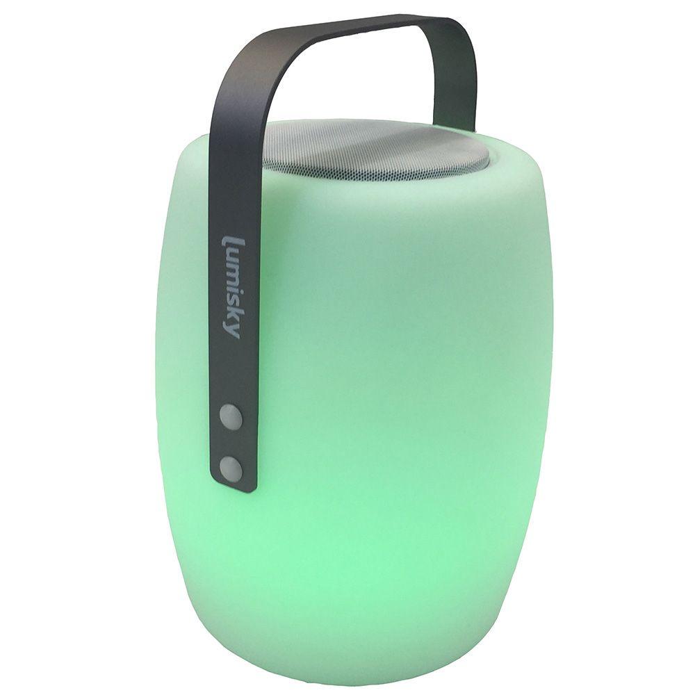 Lampe musicale Bluetooth Lumisky Lucy Play L21 X l21 x H30 cm   Gamm Vert