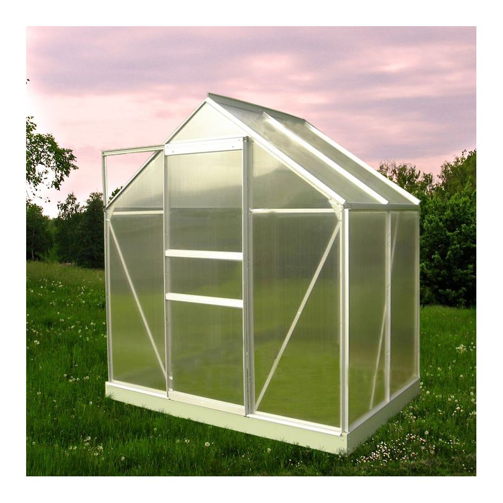 Serre polycarbonate Diamant grise 2.30 m² - Châlet-Jardin